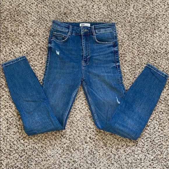 NWOT ZARA high waist skinny jeans by TRF